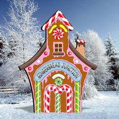 gingerbread junction diy woodcraft pattern add more gingerbread characters to create your very own gingerbread village in your front yard this holiday - Gingerbread Christmas Yard Decorations