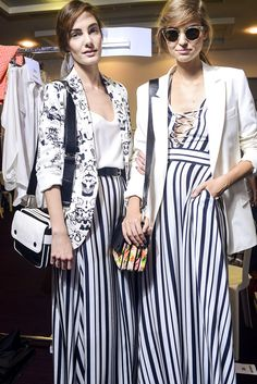 Tendencias primavera 2013 rayas stripes blanco y negro Vogue Mexico, Photo Douglas Bassett
