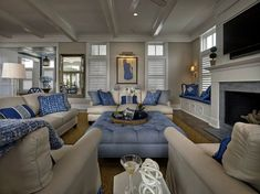 Coastal interiors are designed to be beautiful and inviting to encourage clients to entertain relax and re-charge in their vacation homes.