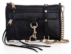Black Rebecca Minkoff Mini Mac.