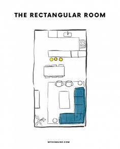 how to arrange furniture in a rectangular shaped room house
