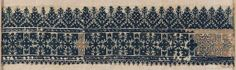 Embroidery fragment      Moroccan   Dimensions      Overall: 13 x 48 cm (5 1/8 x 18 7/8 in.)  Medium or Technique      Cotton and silk; embroidery  Classification      Textiles   Accession Number      22.228