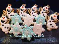 Olaf Cookie Platter, Snowflakes Cookie Platter, Frozen Movie Cookie Platter from Disney
