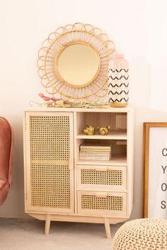 Wicker Dresser, Wood Nightstand, Wood Dresser, Dining Furniture, Furniture Decor, Bedroom Furniture, Wood Storage, Storage Spaces, Online Furniture