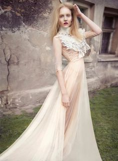 dress ///a little #steampunk but in a delicate way.
