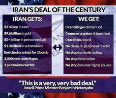 Bibi: A very, very bad deal! But what do you expect from nitwit John Kerry or anyone in this administration....all without the approval of Congress....READY TO IMPRESS YET????