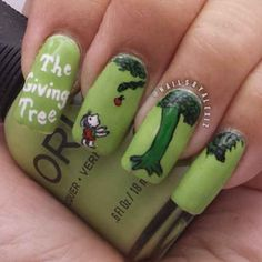 The Giving Tree | 15 Works Of Nail Art Inspired By Your Favorite Children's Books