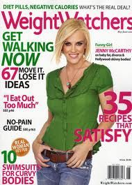 jenny mccarthy on weight watchers magazine cover - love her bob
