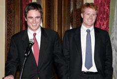 Twin brothers Matthew & Joseph Kennedy, sons of Joe Kennedy II, grandsons of RFK