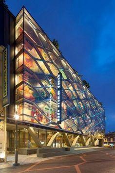 glass facade stairs connection ile ilgili görsel sonucu