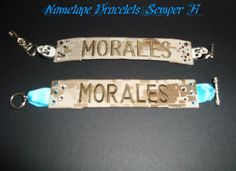 Nametape bracelet! Nametape bracelets! Made straight from my husband's uniform!  www.facebook.com/NametapeBraceletsSemperFi