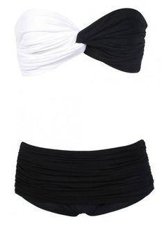 Black & White Trend: bandeau bathing suit