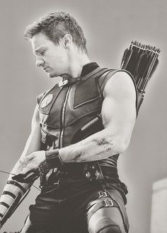 Hawkeye/Clint Barton (Jeremy Renner) I was pretty stoked when Renner started playing sexy guys.  You can't exactly go around telling people you have a crush on the guy who played Jeffery Dahmer.