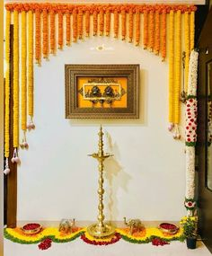 Diwali Decorations At Home, Home Wedding Decorations, Backdrop Decorations, Festival Decorations, Flower Decorations, Naming Ceremony Decoration, Marriage Decoration, Desi Wedding Decor, Wedding Card