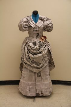 outfit made from newspapers plastic bags - Google Search