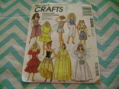 BARBIE DOLL CLOTHES SEWING PATTERN VINTAGE MCCALLS 4906 WEDDING DRESS CAPE UNCUT #McCall
