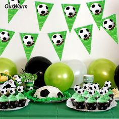 I love parties and pretty soon, my son won't want a cutsy kid's party. Football Party Decorations, Elegant Party Decorations, Hens Night Decorations, Party Centerpieces, Birthday Party Decorations, Football Theme Birthday, Soccer Birthday Parties, Party Flags, Baby Shower Party Supplies
