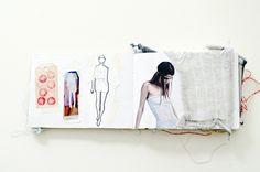 Daphne van den Heuvel begins the design process of her collections by creating an inspirational sketchbook.