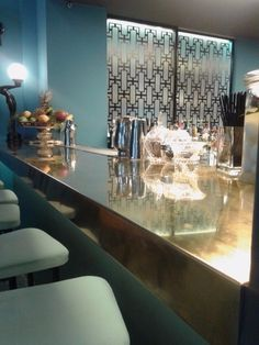 Bars & Εστιατόρια | Andos Glass Vanity, Chandelier, Ceiling Lights, Mirror, Lighting, Glass, Projects, Furniture, Home Decor