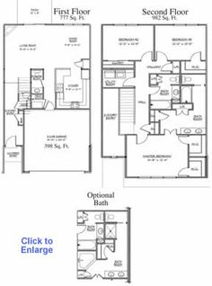 Floor Plan Of A 2 Story House