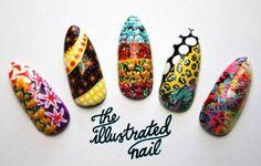 Mary Katrantzou-inspired nails