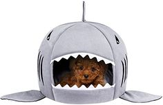 TORDES Washable Shark Pet House Cave Bed for Small Medium Dog Cat Puppies with Removable Cushion and Waterproof Bottom Small Cat, Small Dogs, Pet Shop, Cute Shark, Interactive Dog Toys, Indoor Pets, Pet Gear, Pet Odors, Unique Animals