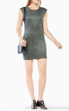 Elm BCBG Karlee Faux-Suede Short Cocktail Slim Dress