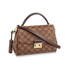Louis Vuitton Damier Ebene Hand Carried Cross Body Handbag Croisette Article: N53000