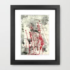 back blood Framed Art Print