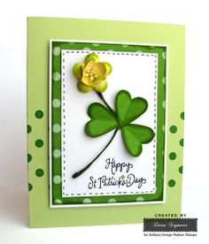 St Patrick's Day card created by Dana Seymour using DeNami Design stamps