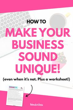 Learn how to make your business sound unique - even when it's not! Plus learn what to check for and what to incorporate to write better copy that STANDS OUT!