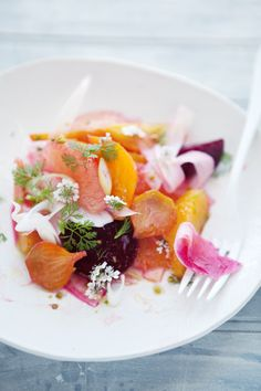 roasted beet, pommelo, orange and fennel salad | Cannelle et Vanille