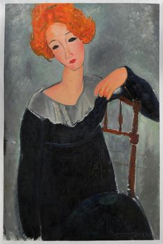 Woman with Red Hair - Amedeo Modigliani high quality hand-painted oil painting…