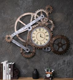 Industrial Style - wall clock Industrie Wanduhr