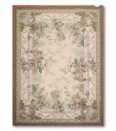 6x9-hand-woven-100-wool-French-Needlepoint-Aubusson-Area-rug-flat-pile