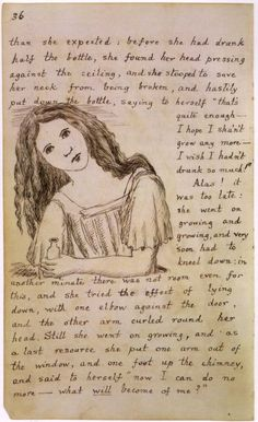 Alice in Wonderland , Lewis Carroll. Original manuscriptewis Carrol. 1865.
