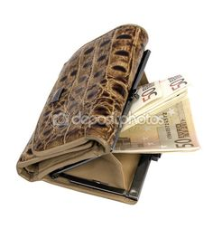 Leather wallet with money White Background Images, Leather Wallet, Money, Stuff To Buy, Silver, Leather Wallets