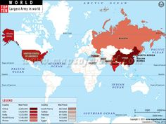 These countries have the largest armies in the world...