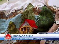 PAISAJE BORDADO(FACHADA # 2) - YouTube Long And Short Stitch, China, Beautiful Butterflies, Hand Embroidery, Arts And Crafts, Youtube, Christmas Ornaments, Holiday Decor, Diy
