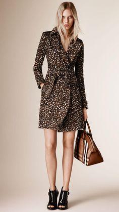Trench-coat en coton à imprimé fauve | Burberry