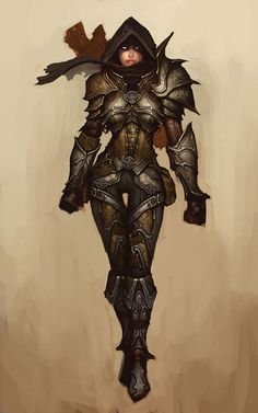 View an image titled 'Demon Hunter Female Art' in our Diablo III art gallery featuring official character designs, concept art, and promo pictures. Game Character, Character Concept, Concept Art, Armor Concept, Fantasy Armor, Medieval Fantasy, Twilight Princess, Fantasy Characters, Female Characters