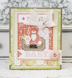 Baby Bear Card by Melissa Phillips for Papertrey Ink (May 2013)