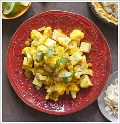 SMACK YOUR LIPS SPICED CAULIFLOWER AND TOFU OVER BULGUR WHEAT - The Eat-Clean Diet® - Making this tonight for Meatless Monday!