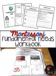 Montessori fundamental needs workbook for Elementary follow up work available from https://www.teacherspayteachers.com/Product/Fundamental-Human-Needs-Student-workbook-1492124