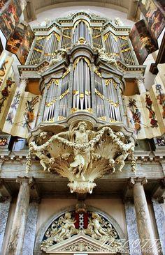 An amazing organ in the Westerkerk Church.