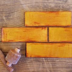 """Firing up the warm toned Subway Tile just in time for fall! 2""""x6"""" Subway Tile - 1950E Indian Summer"""