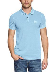 BOSS Orange Herren Poloshirt Pascha, Einfarbig, Gr. Large, Blau (Light/Pastel Blue 455)