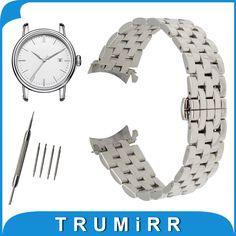 >> Click to Buy << 18mm 20mm 22mm 24mm Stainless Steel Watch Band Curved End Strap + Tool for Epos Watchband Butterfly Buckle Wrist Belt Bracelet #Affiliate