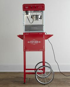Popcorn Machine & Trolley by Waring at Neiman Marcus.
