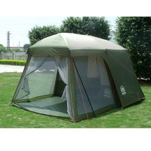 Double layer garden tent 3-4 person large family c&ing tent China Outdoor leisure 4  sc 1 st  Pinterest & Ozark Trail 15 Person 3 Room Tent Instant Large Cabin Split ...